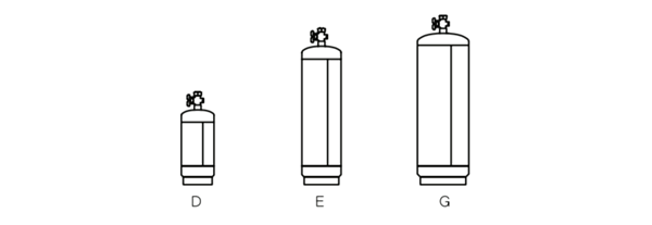 Outline of the different gas bottle sizes in Australia