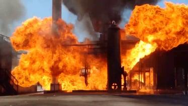 Flammable Liquid Fire