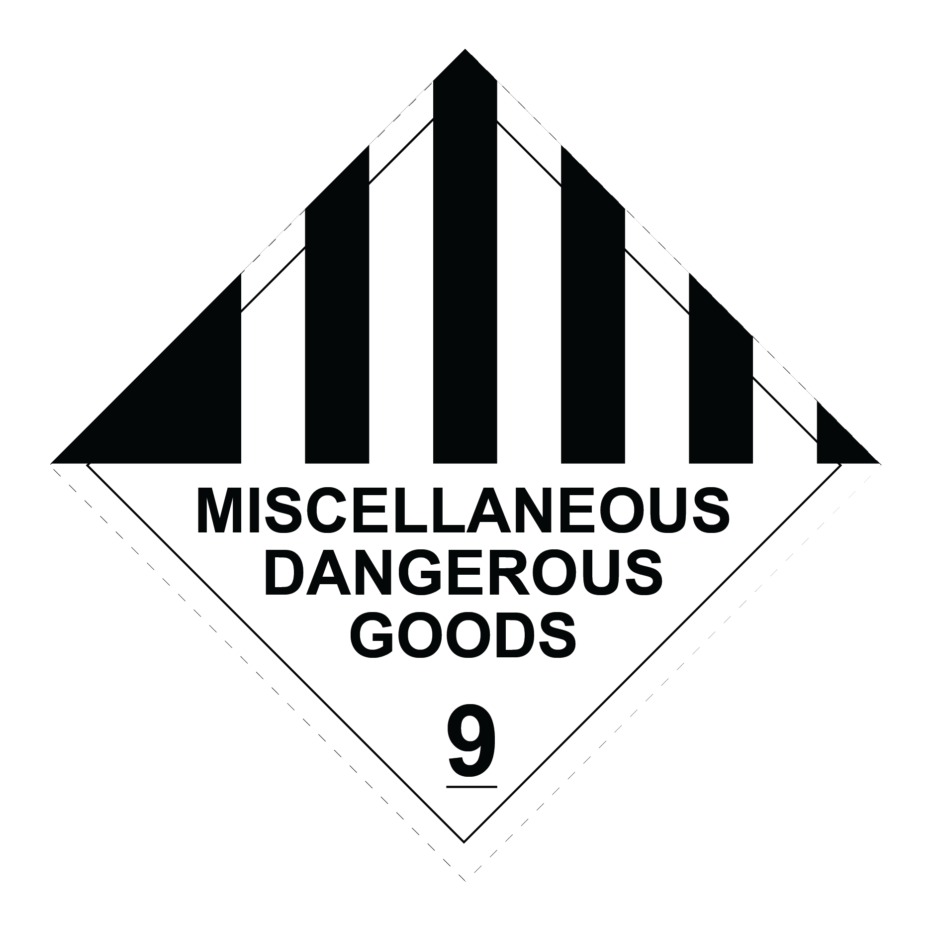 class 9 miscellaneous dangerous goods sign