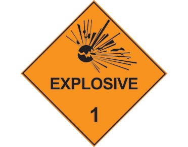 Explosives Sign