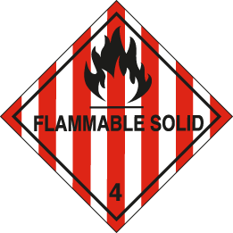 Class 4 - flammable solid sign