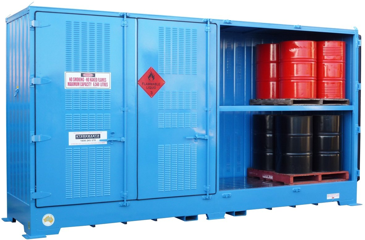 Flammable storage container