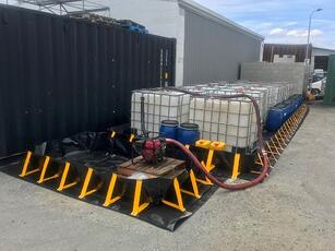 Portable Containment Bund with IBCs