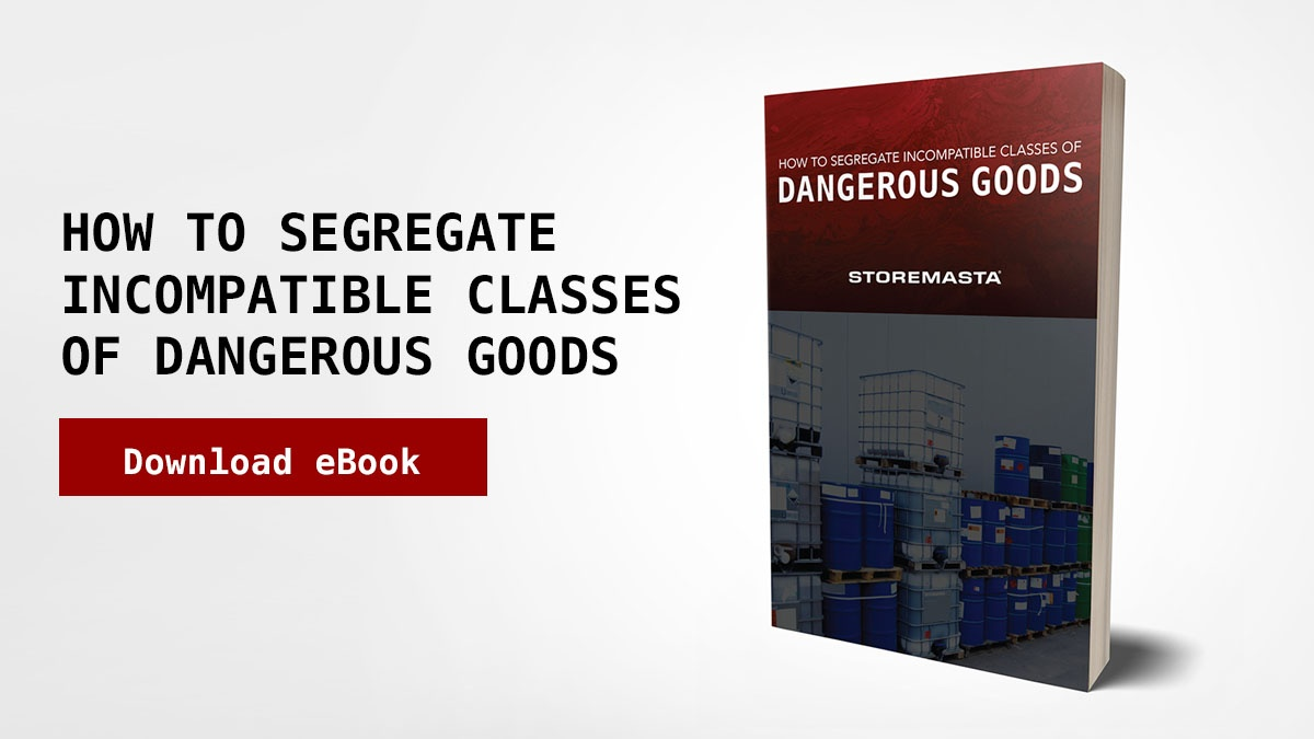 How to segregate incompatible classes of dangerous goods