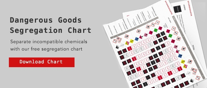 Dangerous Goods Segregation Chart
