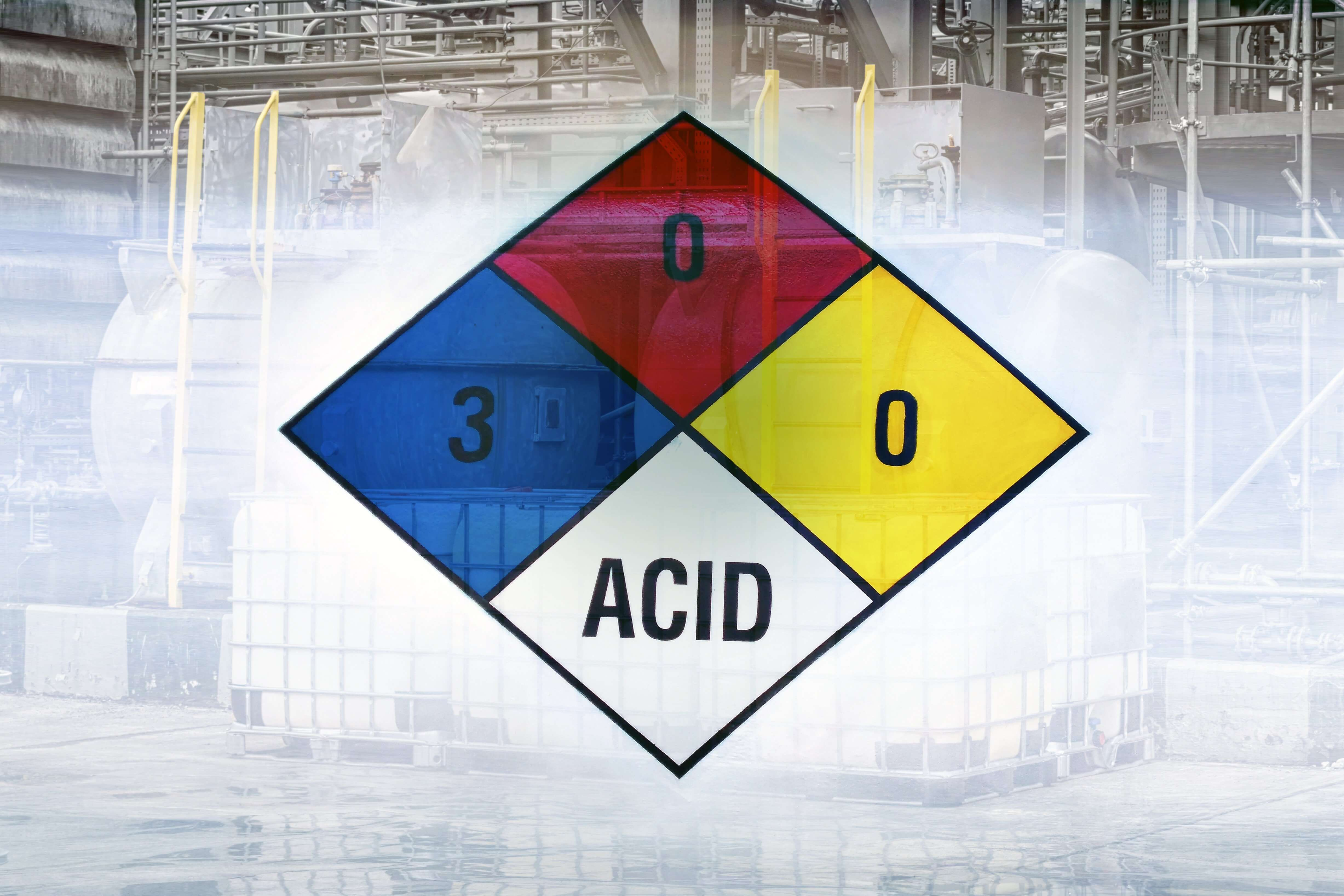 How to store acids in the workplace