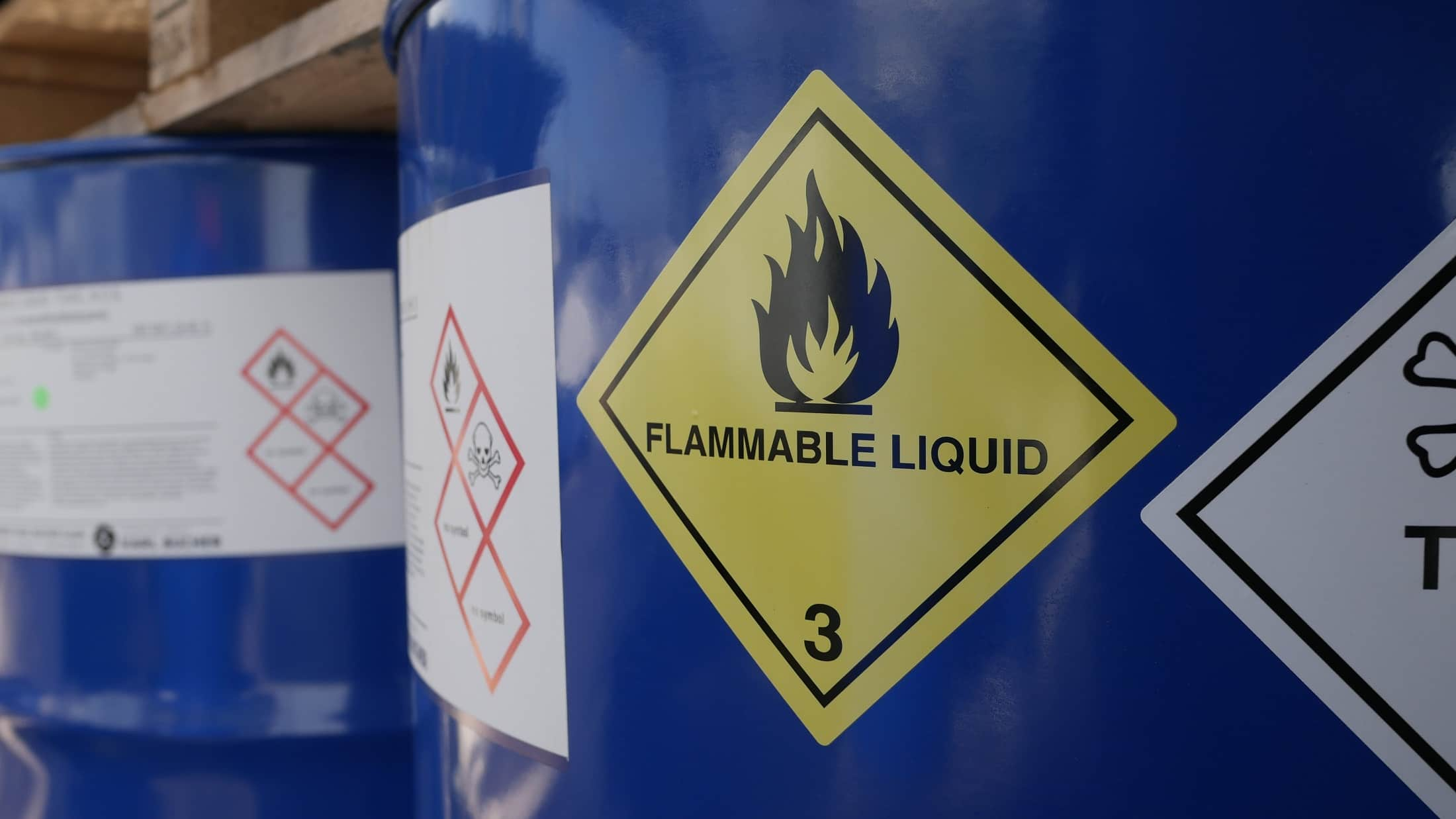 Keeping oxidisers and flammable liquids apart