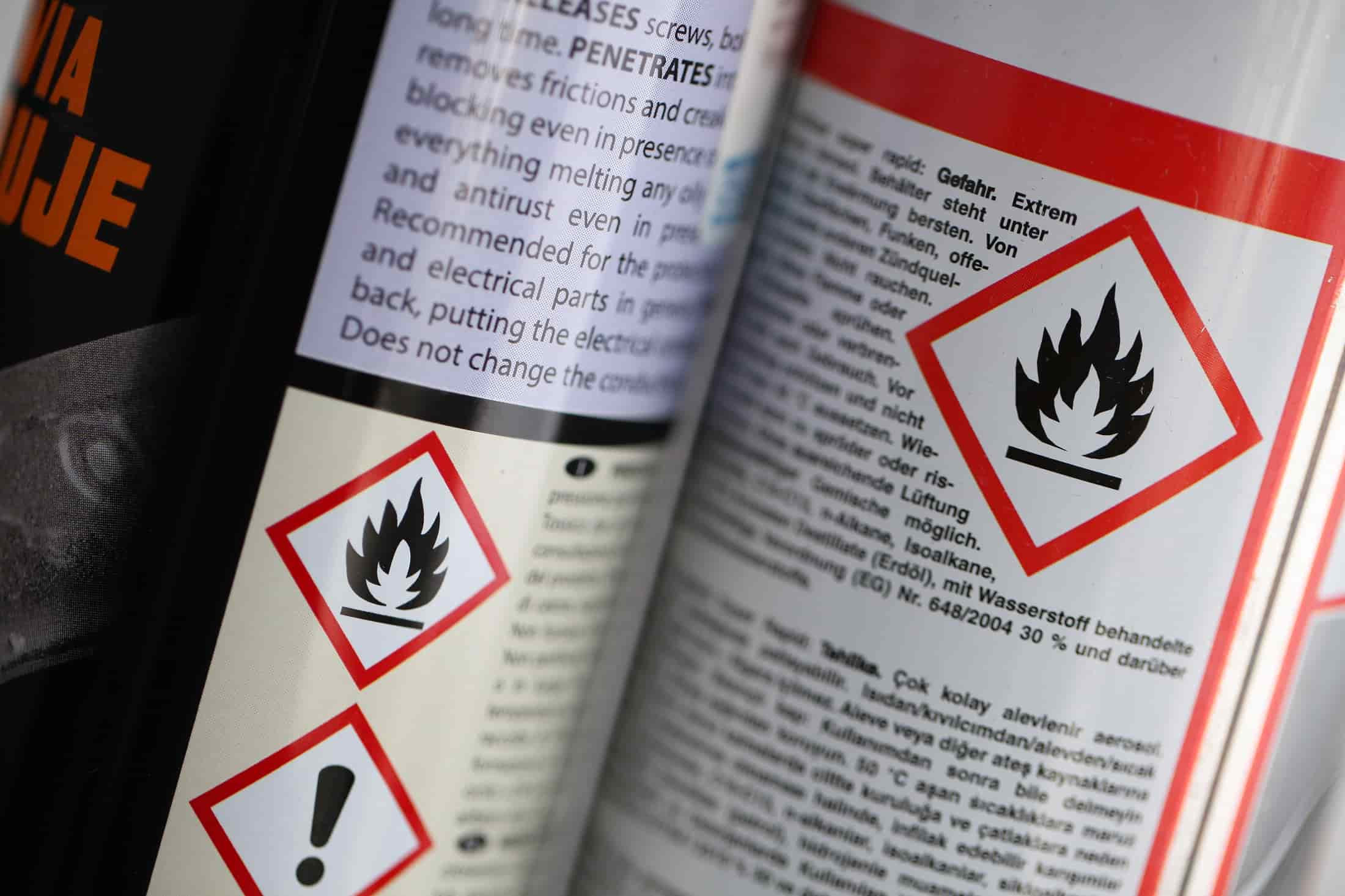 Storing flammable liquids, PPE, and Safety Data Sheets