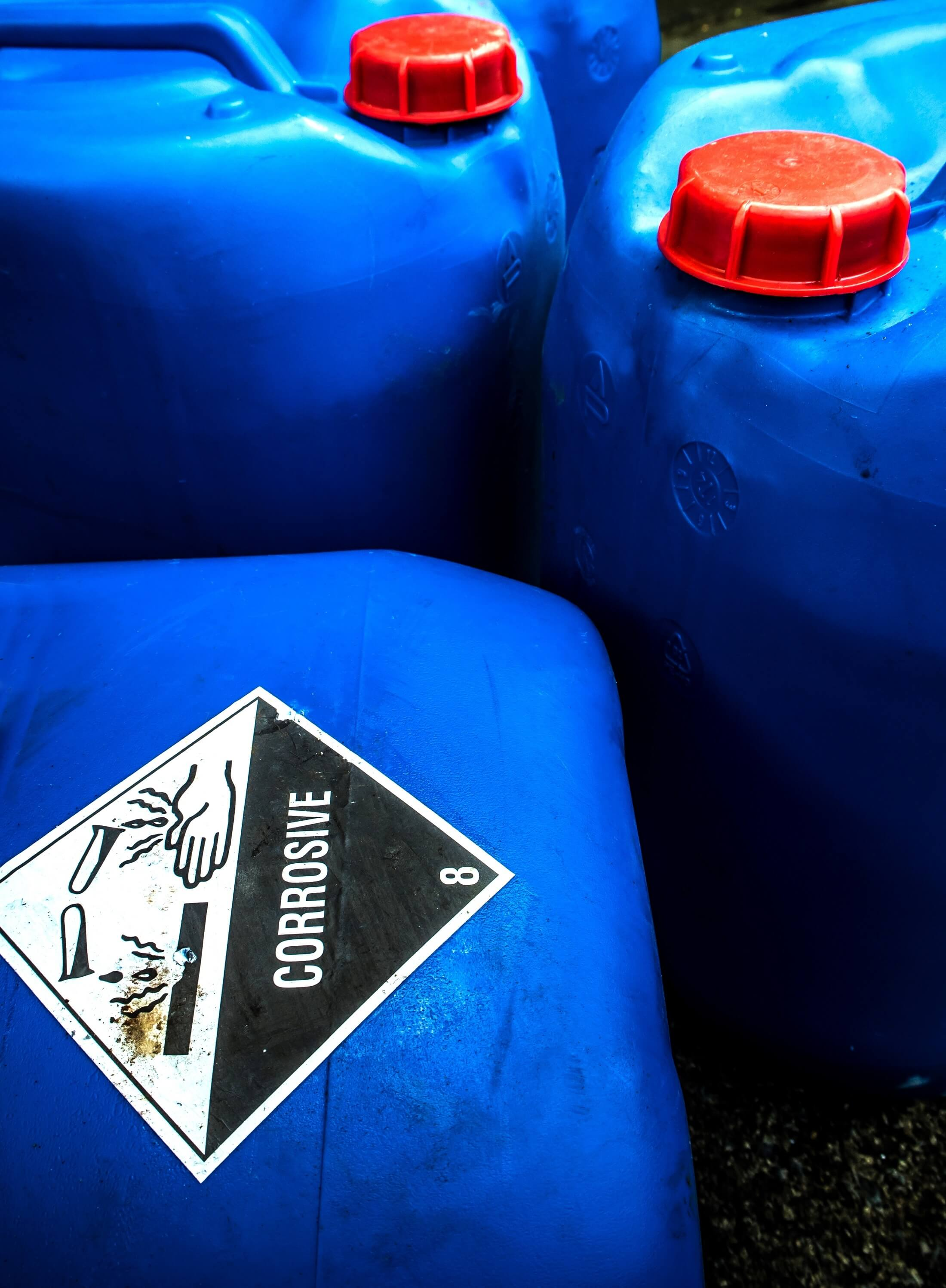 Handling corrosive substances in the workplace