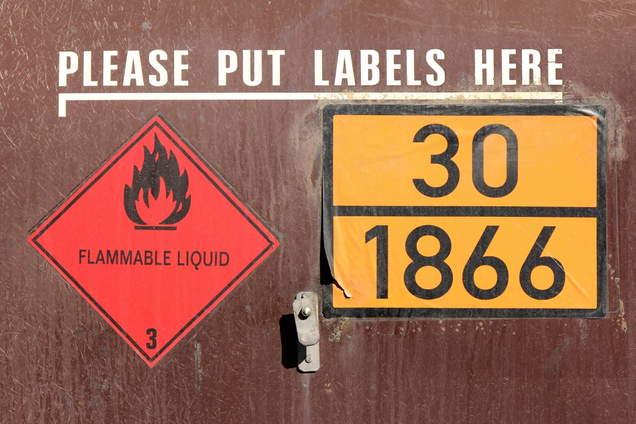 Mandatory signs for hazardous chemicals stored at your workplace