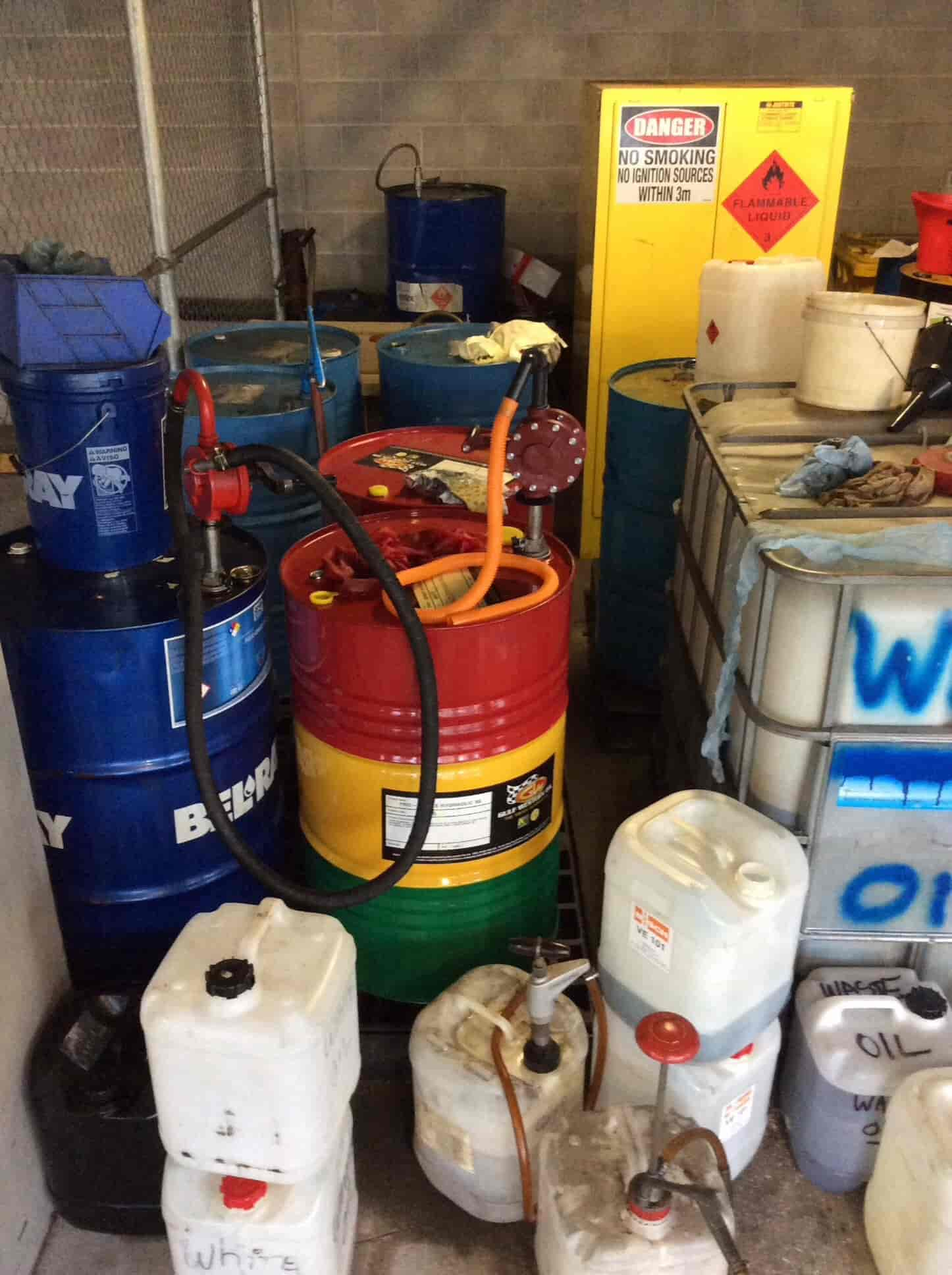 What happens if I overload my flammable liquids cabinet past its capacity rating?