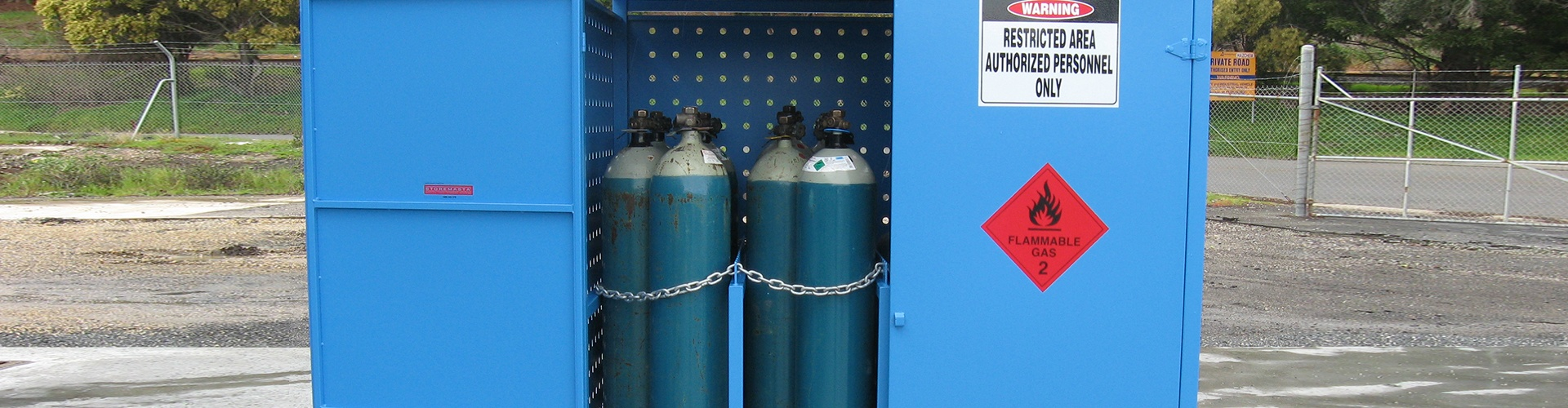 Why gas cylinders should be stored outside