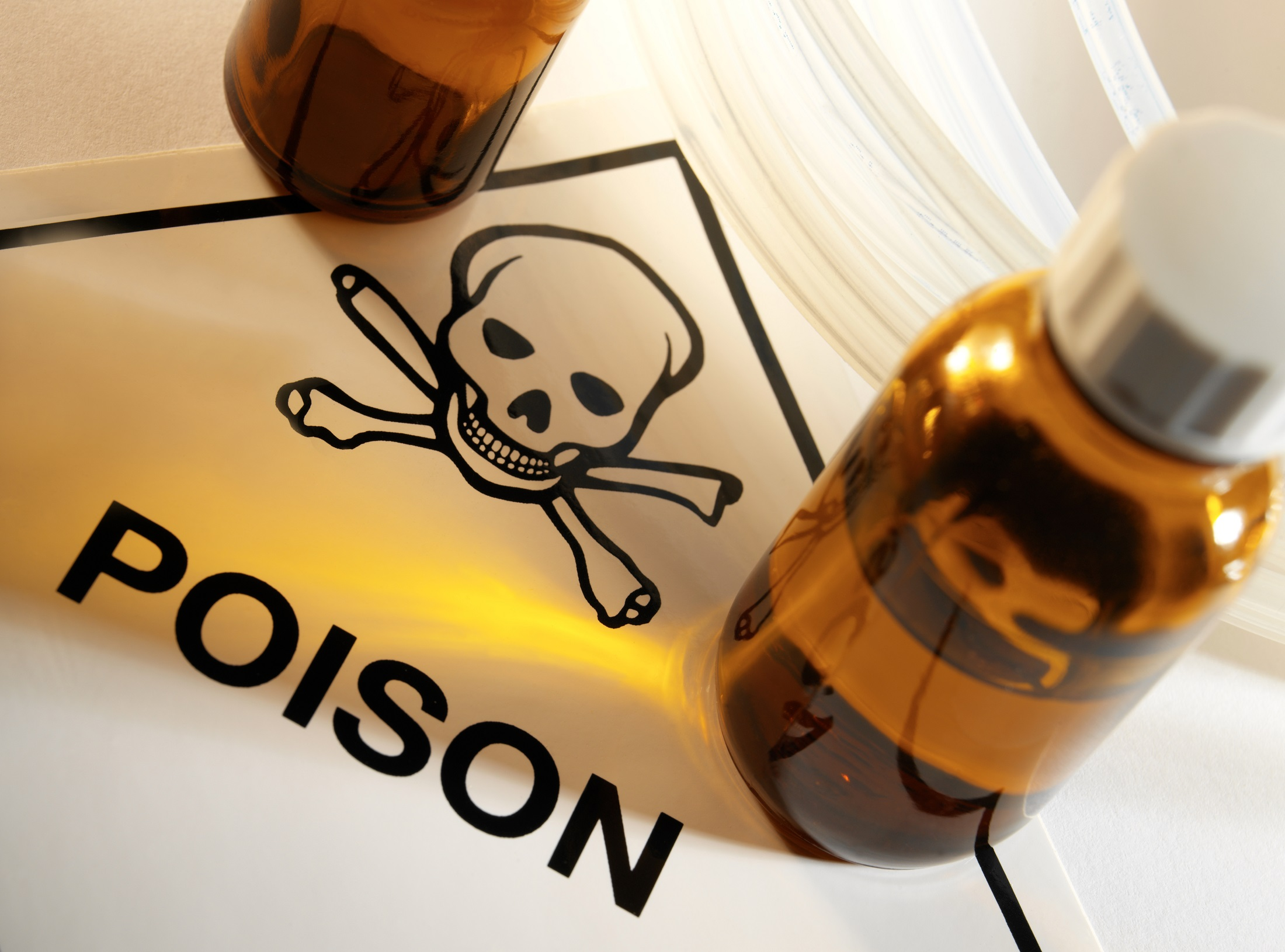 Using poisons and solvents in the workplace