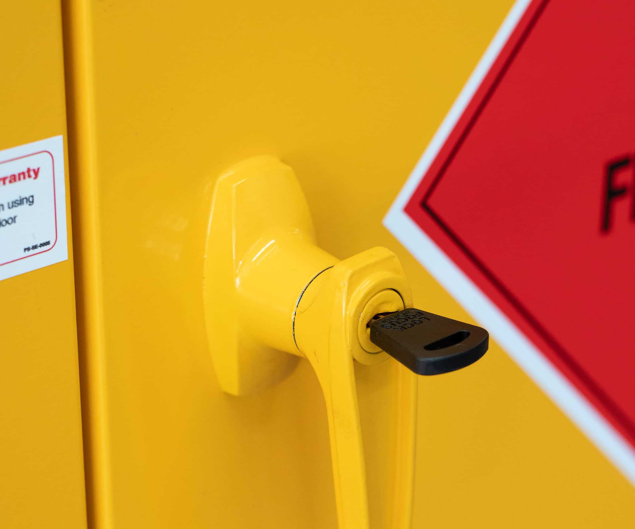 How to install a flammable liquids cabinet