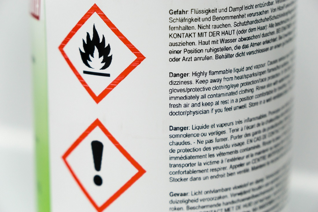 Labeling and storing hazardous chemicals