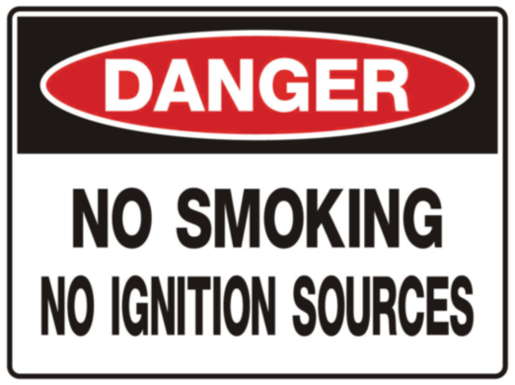 STOREMASTA Danger No Smoking No Ignition Sources