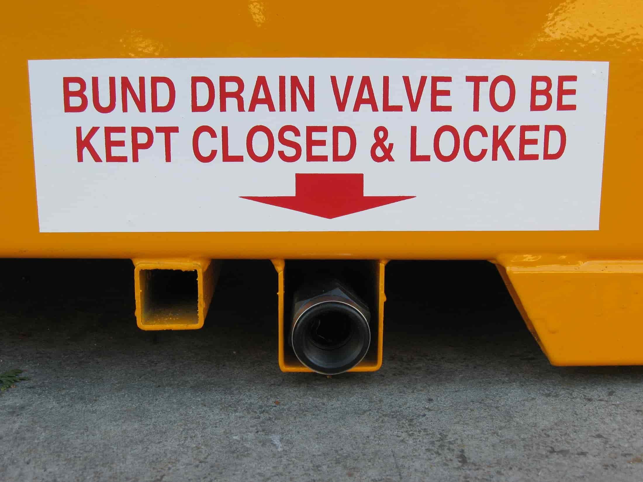 STOREMASTA Relocatable Bund Drain Valve Sump Clean