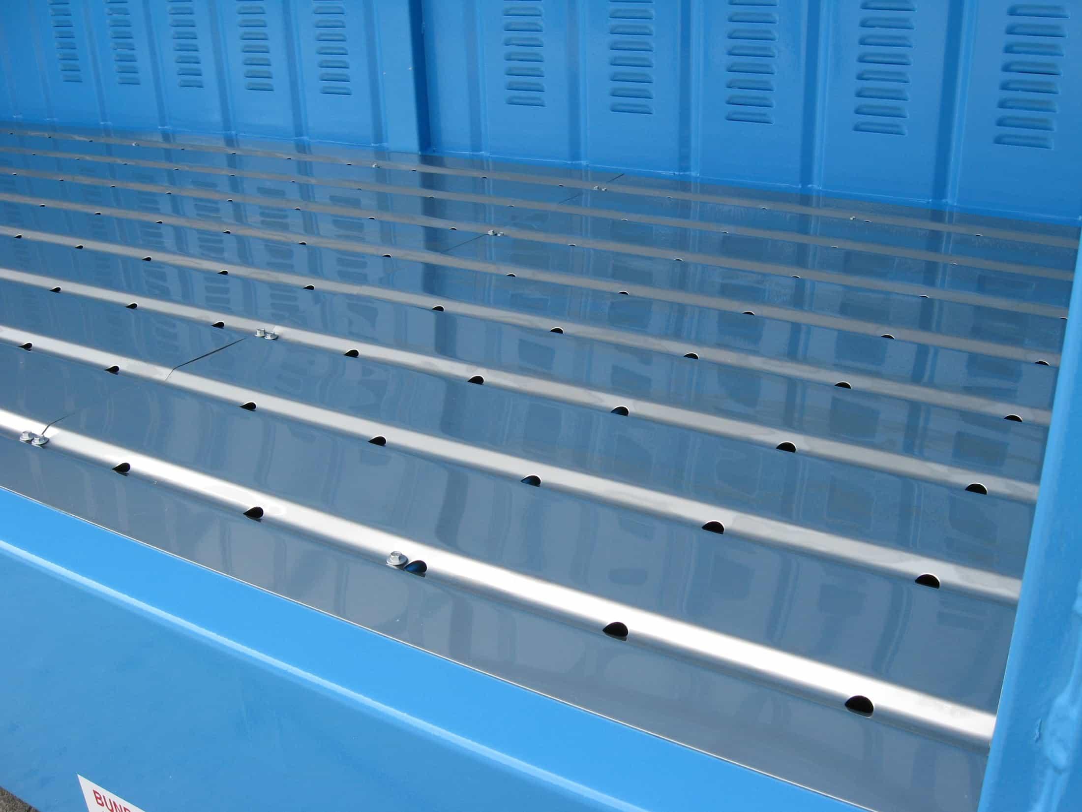 STOREMASTA Relocatable base sump flooring